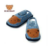 韩国WINGHOUSE正品MOMO小熊全棉儿童家居鞋 地板鞋室内拖鞋MA0191