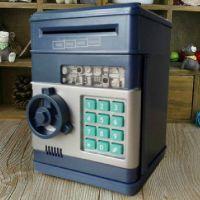 可爱储蓄罐礼物大号密码盒自动卷纸币存钱罐迷你保险箱创意储钱罐