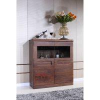 尚岛木业 黑胡桃家具 现代简约客厅视听柜组合 可定制