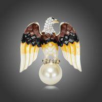 欧美外贸时尚潮范镶钻翱翔的老鹰胸针 速卖通热卖