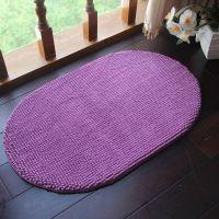 厂家供应超细纤维雪尼尔短毛椭圆地垫地毯客厅卧室厨房垫子