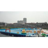 湖北十堰儿童广场大型支架游泳池水池水上冰山蹦床厂家定制