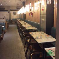 罗湖中高档连锁餐厅大理石餐桌定制厂家运达来,现代中式人造石餐餐桌椅