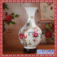 陶瓷花瓶生产厂家 定做活动庆典送礼花瓶 中国红陶瓷花瓶