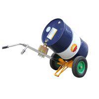 深圳宝安油桶手推车 配充气轮叼桶车 叼扣式圆桶搬运车