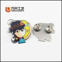 金属胸针定制 合金压铸卡通LOGO徽章订做 北京哪里专业制作印刷礼品徽章