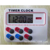 和顺达726厨房计时器 12小时计时器 带时间功能24小时计时器闹钟
