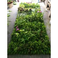 仿真植物墙面 背景装饰墙 假草墙定做 景观工厂室内外绿化墙 广州松涛工艺