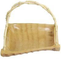 竹根有提方篮果篮竹制工艺品 实用美观 时尚创意 艺术品
