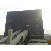 环保型搅拌楼主楼钢构围护安装