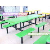 【厂家直销】食堂餐桌椅 八人位餐桌 快餐桌椅批发
