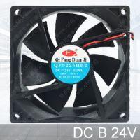 QFDJ/奇芳厂家供应 DC9225直流24V双滚珠轴承散热风扇 9cm/厘米电焊机直流散热风机