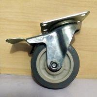 衡水衡赢脚轮厂3寸4寸5寸轻型橡胶轮 超静音耐磨轮子 手推车移动滚轮 万向脚轮