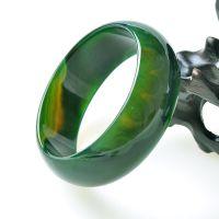 天然巴西水草玛瑙手镯 绿玛瑙镯子 加宽加厚 玉石手镯