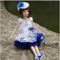 可儿娃娃 1122 七周年纪念版 青花瓷 白肌关节体女孩礼物芭比娃娃