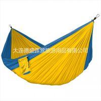厂家直销正宗尼龙降落伞布加厚单人吊床户外用品 面料舒适