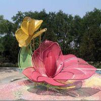 东莞花朵雕塑 大型不锈钢花型雕塑 广东原著定制不锈钢花 假花等