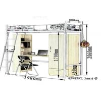 石家庄双层铁床员工宿舍上下床带实心板二层高低铁床特价