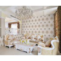 鸿棉2016新款高档刺绣墙布 欧式风格刺绣墙布 客厅卧室装修墙布