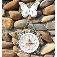 欧式创意铁艺挂钟 家居装饰客厅挂工艺钟 蝴蝶挂钟 装饰品