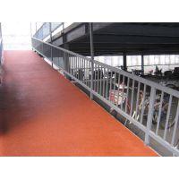 顺义铁板平台陶瓷颗粒防滑地坪大型地面坡道抗压彩色防滑地面漆施工