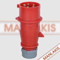 厂家现货直销MANLAKIS TYP4 32A-6h 5孔工业插头380V 如假包换