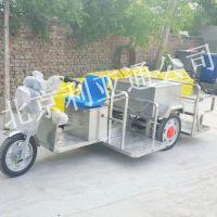 厂家定制不锈钢电动4桶三轮垃圾车、电动三轮保洁车、环卫街道电动三轮垃圾车北京利亚通