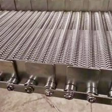 乾德机械供应食品金属网带 链条式加挡板食品输送网带