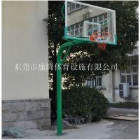 东莞康腾篮球架厂家 移动埋地钢化板篮球架价格