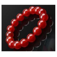 红玛瑙12mm独立包装手链水晶周年庆典展销会饰品全网厂价