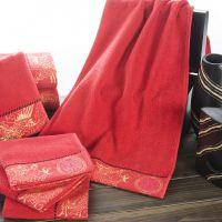 直销纯棉毛巾浴巾高档套装礼盒 情侣婚庆礼品套巾 鸾凤和鸣六件套