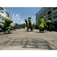 西游记人物雕塑中西式仿真植物室外雕塑环保造型绿植环保植物 卡通植草绿雕