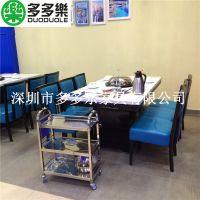 海食尚蒸汽海鲜店餐桌椅 蒸汽火锅桌椅 多多乐家具定制