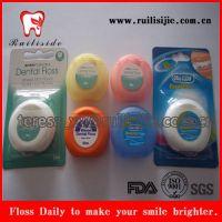 供应出口标准FDA认证加蜡加薄荷香料牙线,50米