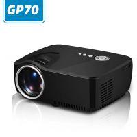 2016年电商外贸爆款GP70微型投影机高清家用智能正投LED投影仪 东锜迷你投影机