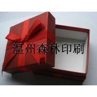 定做彩盒小礼盒 四色胶印彩盒 精美蝴蝶结大红色包装纸盒
