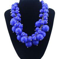 热销欧美大牌夸张时尚树脂珠子手工外贸奢华高档项饰品速卖通货源