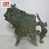 仿古青铜商周鸟兽纹觥  盛酒用的器皿鸟兽纹觥  古玩收藏鸟兽纹觥