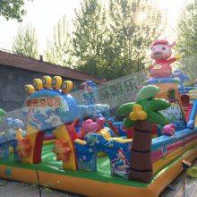 公园里的大型充气城堡价格、小孩子玩耍跳床在哪买
