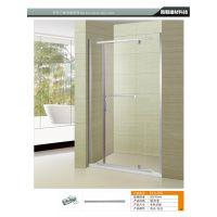 平开门淋浴房浴室整体扇型淋浴房定制 304不锈钢一字型移门玻璃隔断推拉门包邮