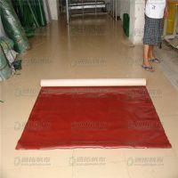 耐磨印花台皮 红色专用印花台皮 哑光台皮台布