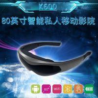 80寸安卓智能视频眼镜高清移动影院wifi头戴显示器VR一体机