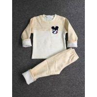 2016秋冬款童装儿童保暖衣两件套长袖加绒童套装秋款童装厂家直销