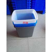方形周转箱 无毒 塑胶水桶 透气性佳冷冻水箱 蓝色 灰色 PP垃圾桶方箱