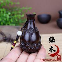 新品 越南沉香木雕 挂件手把件文玩精品观音瓶莲花瓶 木质工艺品