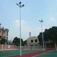 江门足球场照明灯杆灯架订购 篮球场LED灯安装方案 柏克厂家直销