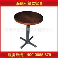 火拼热卖 欧式餐桌椅组合 休闲餐厅西餐桌椅 高脚铁艺实木餐桌