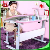 卧室儿童家具学习桌椅套装 可调节升降儿童矫姿课桌学生椅批发