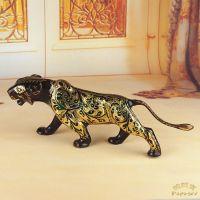 小额混款批发工艺礼品 巴基斯坦手工铜雕老虎 异域风情家居BA096