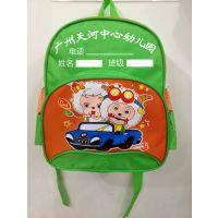 厂家定制幼儿园书包绿色包边卡通儿童背包 男韩版喜洋洋双肩包促